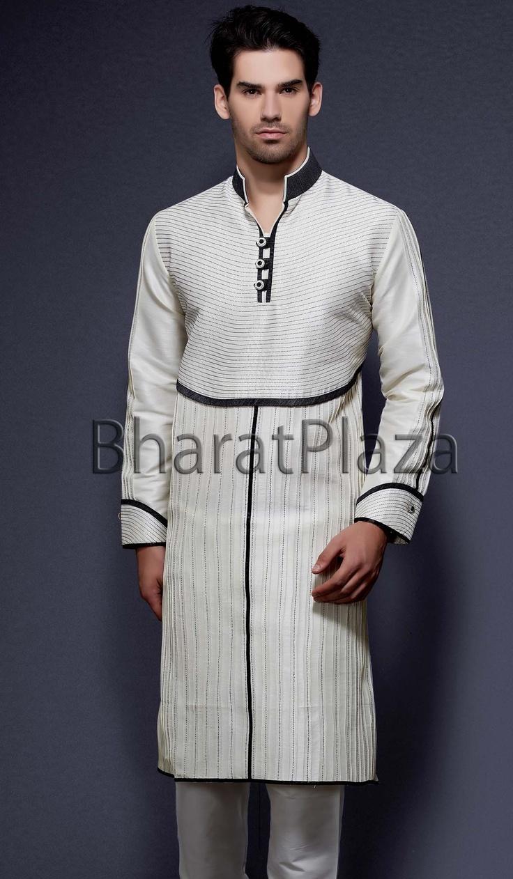 Newfangled Off White Kurta Pyajama Item code : SKB2132 http://www.bharatplaza.in/new-arrivals/kurta-pyjamas/newfangled-off-white-kurta-pyajama-skb2132.html https://twitter.com/bharatplaza_in https://www.facebook.com/bharatplazaindianbridal