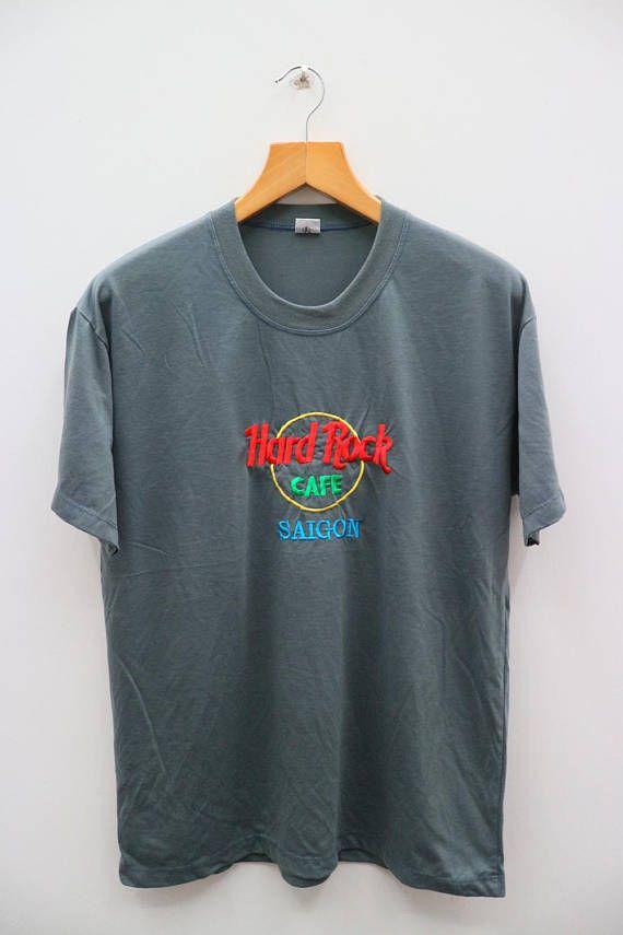 Vintage HARD ROCK Cafe Saigon Gray Tee T Shirt Size XXL