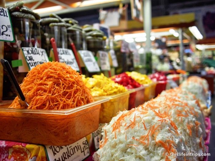 Fresh and tasty products at Riga Central Market.