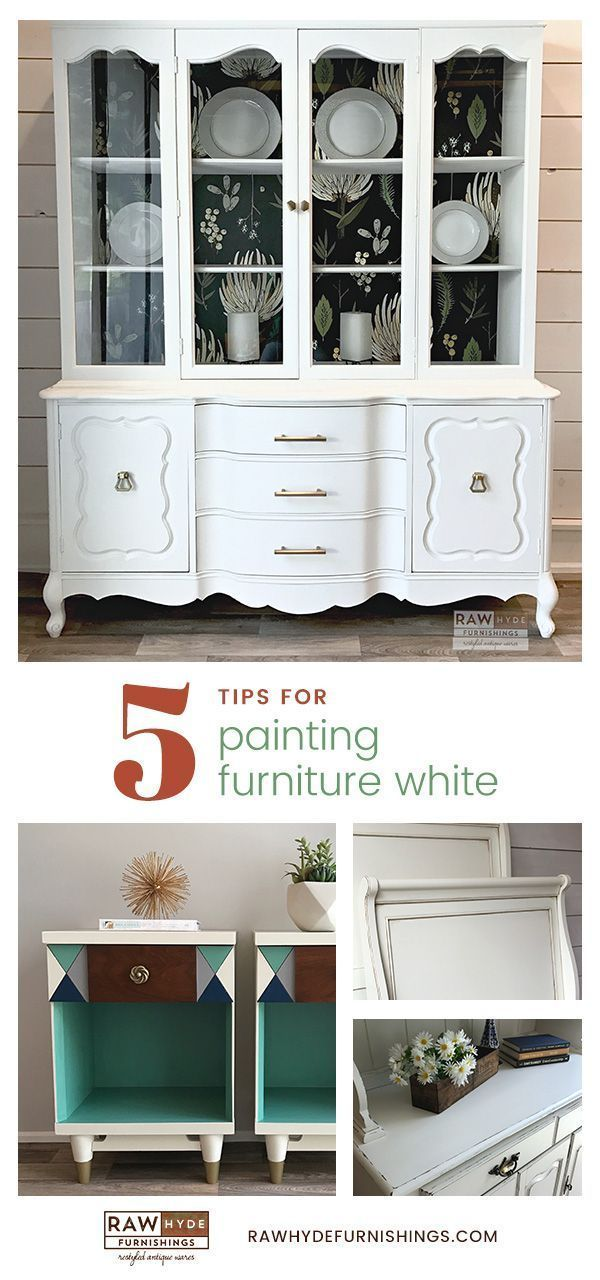 Painted Furniture | Chalk Paint | Tips For Painting Furniture White | Farmhouse Style | Painting Tips | RAWHyde Furnishings