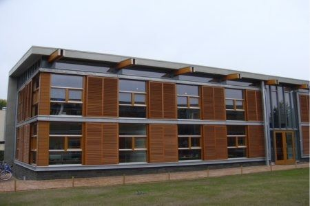 Exterior Cedar Sliding Solar Shutter Screens