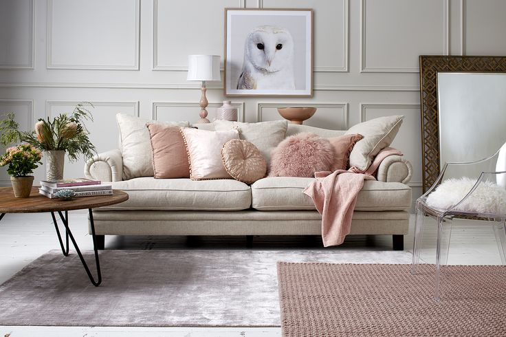 No matter whether you call it nude, blush, or pastel pink, there's never been a better time to introduce this colour to your living spaces because it's right on trend.  We've taken a textured approach with a beautiful collection of cushions, homewares and rugs to create the perfect balance of strawberries and cream. For a limited time only you can save on sofas, homewares, rugs and much more as part of our huge Spring sale clearance. Shop the catalogue here!