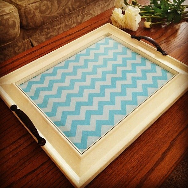 Easy Home Decorating With Trays: Coffee Table Tray Made From Old Picture Frame
