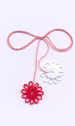A beautiful Moldavian Tradition Martisor on March 1st