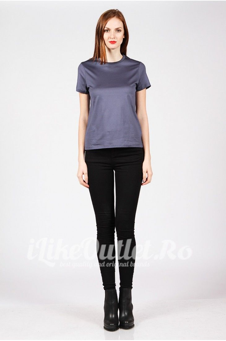 Tricou gri albastrui COS