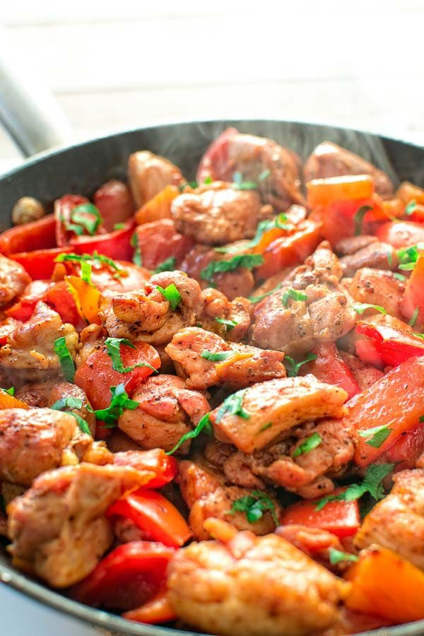 quick and flavor-filled smoky paprika chicken seared with bell peppers ...
