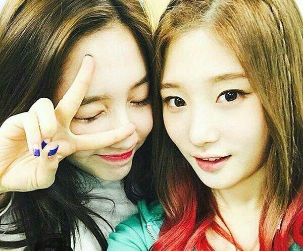 Kim Dani instagram update with Chaeyeon IOI