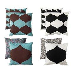 IKEA - TILLFÄLLE, Housse de coussin, Changez facilement le décor grâce aux motifs différents sur les deux faces.Facile de retirer la housse grâce à la fermeture à glissière.