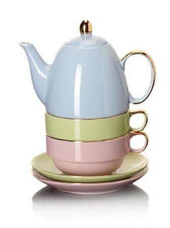 Amazon.com: Classic Coffee & Tea Glazed Teapot for Two, Assorted, 20 Oz.: Home & Kitchen
