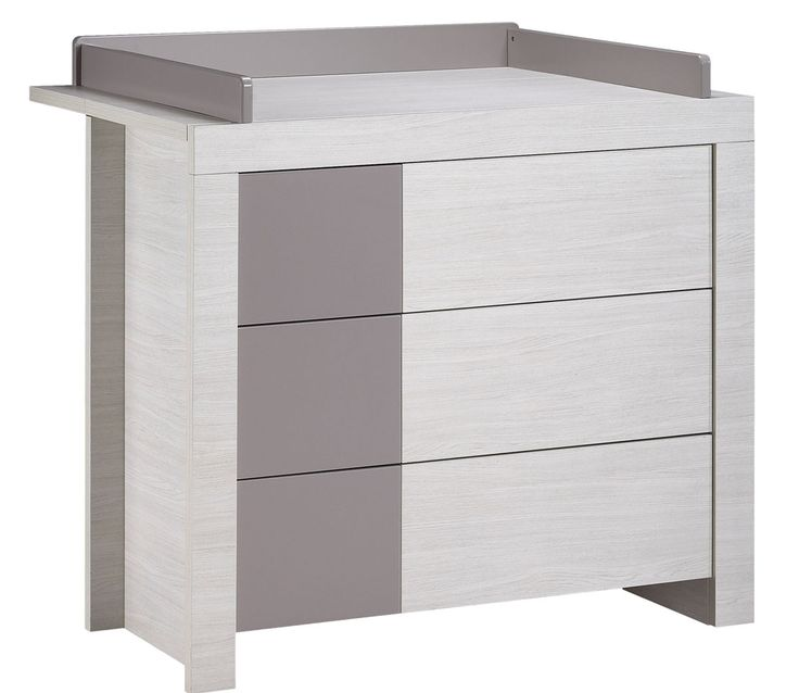 Commode tiroirs opale taupe avec dispositif langer - Chambre ana sauthon ...