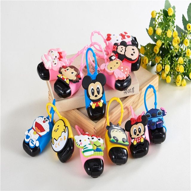 2017 New Arrival Cartoon Silicone Hand Sanitizer Holder Mini Cute