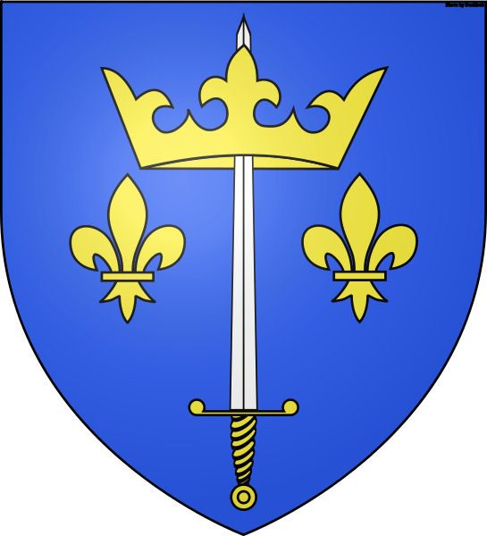 The Coat of Arms given to St. Joan of Arc and her family by King Charles VII of France.