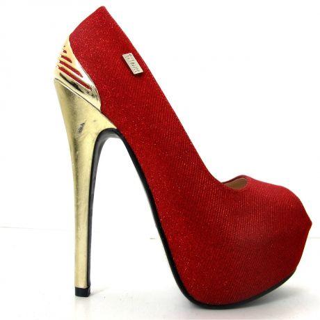 "Dazzle in a pair of ravishing red ""Diva's"" by Plum Footwear."