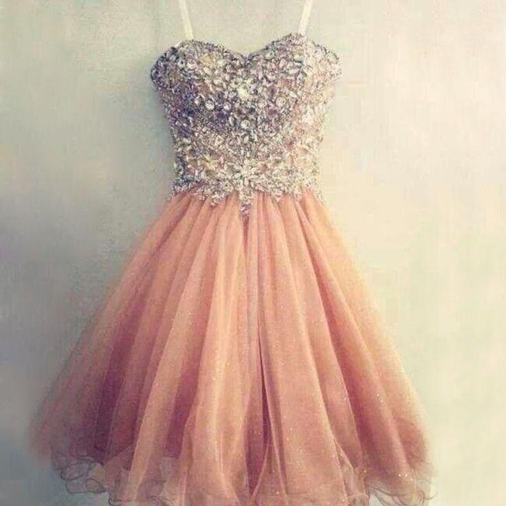 dress, homecoming dress, peach dress, sweetheart dress