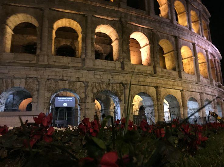 Colosseum,flowers,night Rome!!!!