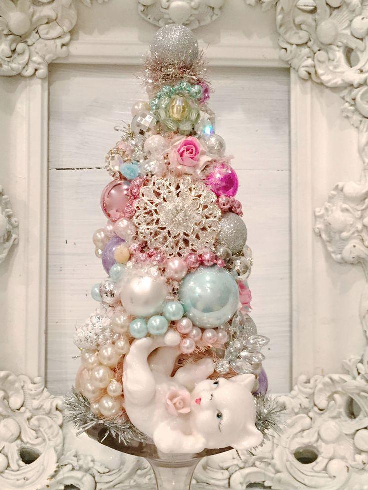 514 best Bottle Brush Trees images on Pinterest Christmas