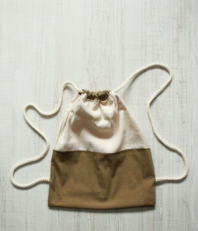 DIY: drawstring bag
