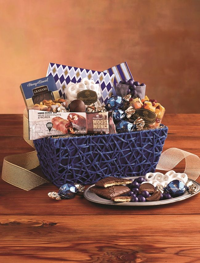 25 best holiday gift baskets images on pinterest christmas gourmet gift basket in the spirit of hanukkah celebrations negle Choice Image