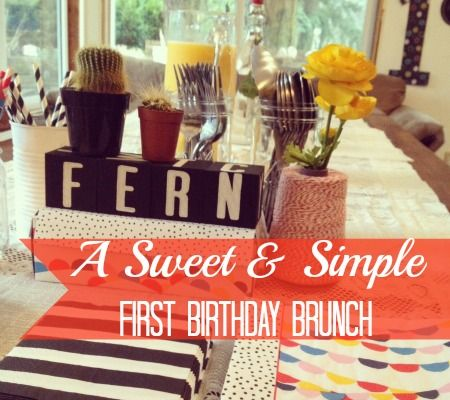 First Birthday Party Inspiration: A Sweet and Simple Brunch #firstbirthday #party #brunch