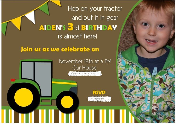 11997e0d77048555916a607b3d28e840 tractor birthday parties birthday party foods 28 best images about john deere party on pinterest,Tractor Birthday Party Invitations