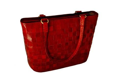 Women's Leather LARGE RED LEATHER TOTE
