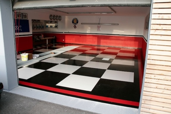 big checkerboard epoxy garage floor | garage | pinterest | epoxy