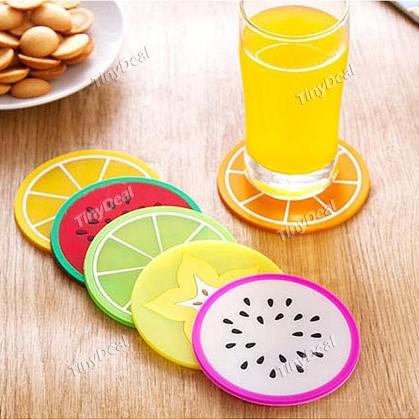 Fruit Design Cup Mat Coaster PVC Insulation Mat HHI-410526