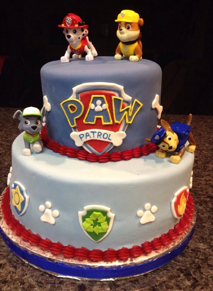 Images Of Paw Patrol Birthday Cake : Rylan s paw patrol cake! Birthday Parties! Pinterest ...