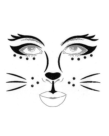Kids Black Cat Face Decal - Spirithalloween.com