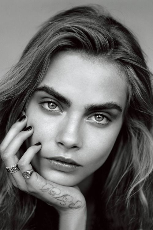 Cara Delevingne - Vogue January 2014 - eye definition need not rely on eye liner. Use eyeshadow to great effect, and your stare could be as captivating as Cara's.