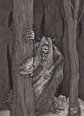 Muma Pădurii_Romanian folklore -- an ugly and mean old woman living in the forest.
