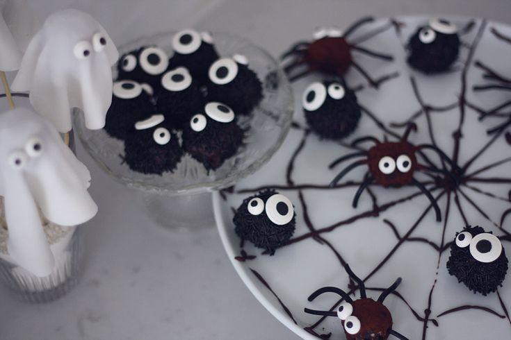 halloweenslik edderkopper spøgelser monstre