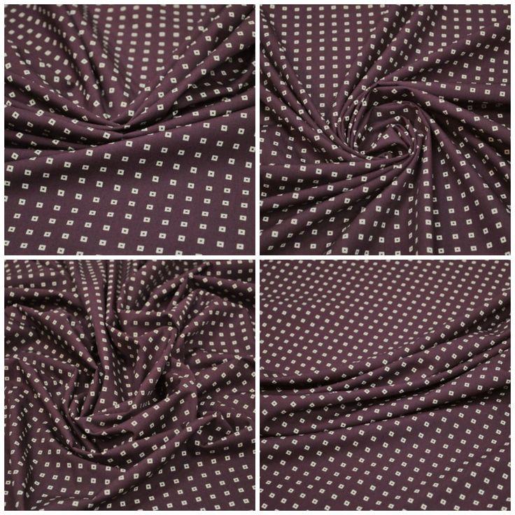 Блузочная ткань арт. 12-003-1638 Ширина: 150 см, плотность: 145г/м2 Состав ткани: 100% хлопок Назначение: Блузки, сарафаны, юбки Цвет: Темный пурпурно-красный #хлопок#блузочная#мелкий принт#сарафан#юбка#tutti-tessuti