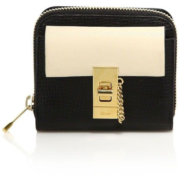chloe drew card holder. chloe drew two-tone square leather wallet (35.450 rub) ❤ liked on polyvore card holder