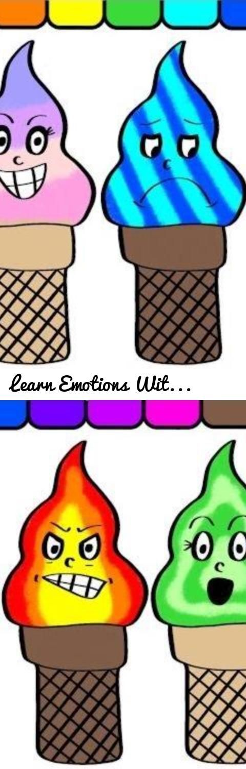 Learn Emotions With Funny Ice Cream Coloring Book For Kids ...