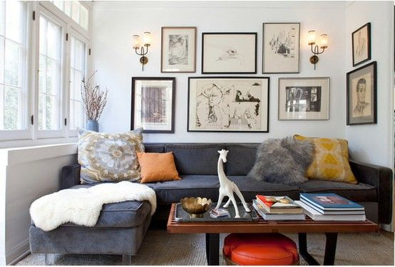 Sectionals are a great way to provide lots of comfortable, cozy seating in a small apartment.