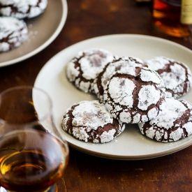 Bourbon Dark Chocolate Crack Cookies