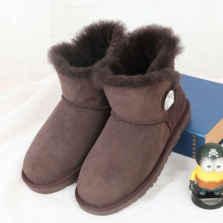 High quality snow boots 2017 new Australian natural sheep skin 100% female  boots free delivery