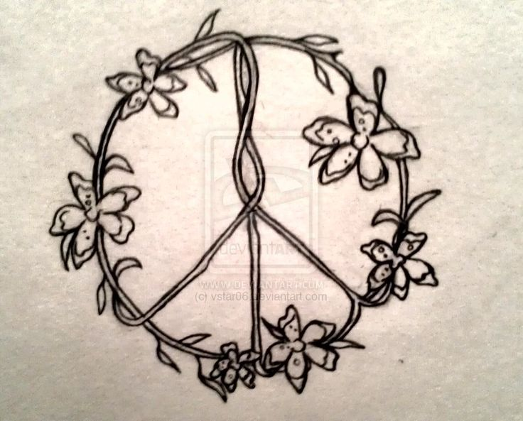 flower peace sign by vstar06 on DeviantArt