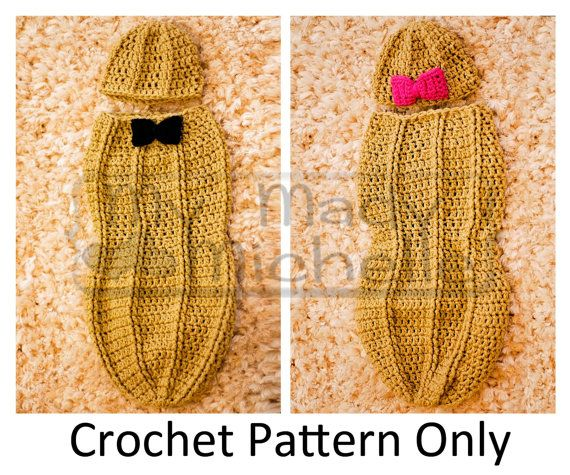 Crochet Pattern for Infant Peanut Cocoon 0-3 by mymadymichelle