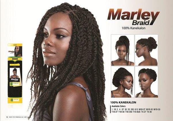 Kanekalon Hair Fiber Braids/Synthetic Marley Hair Braid Extensions