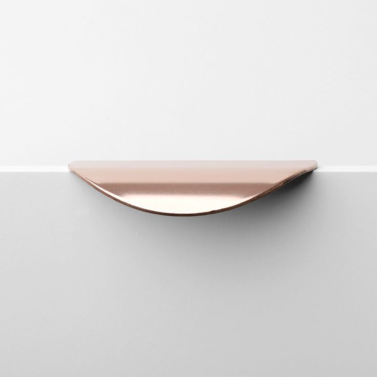 Holy Wafer ~ drawer handle in untreated copper, which with develop a patina appearance over time | Superfront