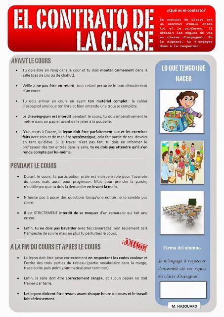CLASE DE ESPAÑOL : el contrato de la clase #learn #spanish #kids