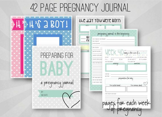 Pregnancy Journal - Weekly Pregnancy Log - Printable - INSTANT DOWNLOAD