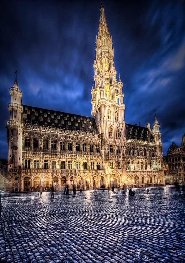 Hotel de Ville // Brussels, Belgium • the only building to escape French bombardment in 1695, even though it was their main target
