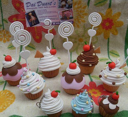 cupcakes hechos en porcelana fria - Buscar con Google