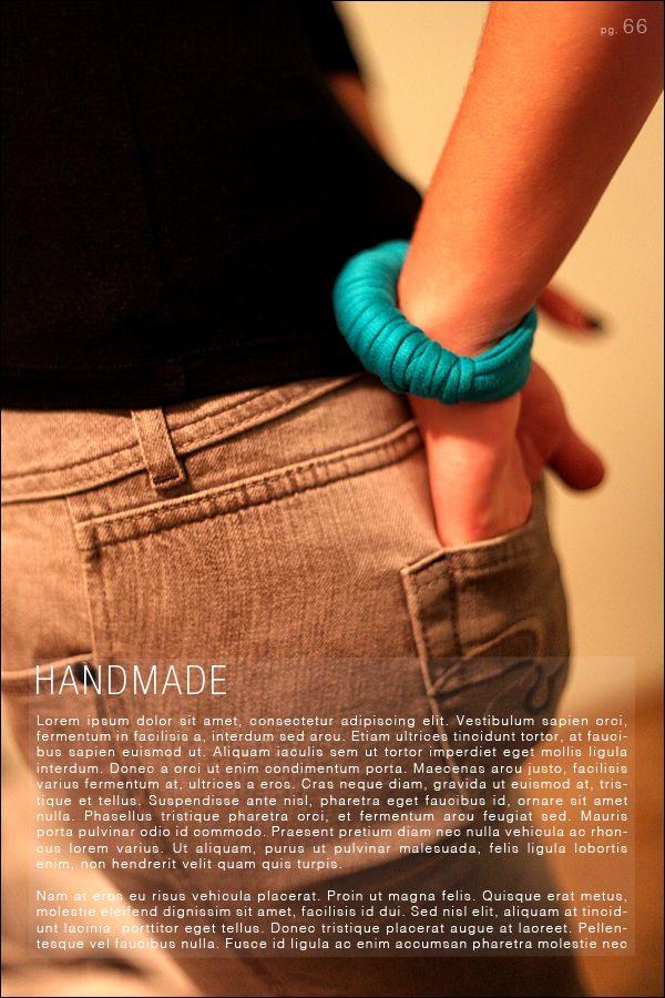 Handmade scarf and bracelet