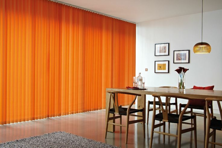 Orange Vertical Blinds are only for the brave, but they are certainly eye-catching!