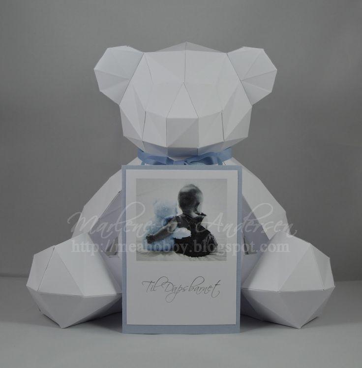 Paper teddy bear, papir teddybjørn