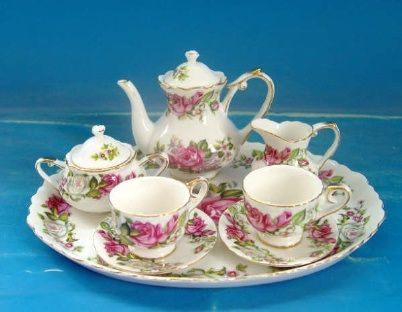 Child's Tea Set in Gift Box Girl's Princess Pink Child's Porcelain Tea Set